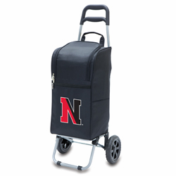 Picnic Time Cart Cooler Black Northeastern University Huskies