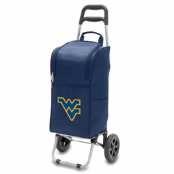 Picnic Time Cart Cooler Navy Blue West Virginia University Mountaineers