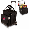 Picnic Time Cellar w/ Trolley - Black Cleveland Indians