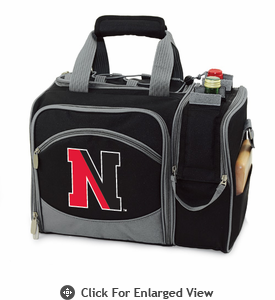 Picnic Time Malibu Digital Print - Black Northeastern University Huskies