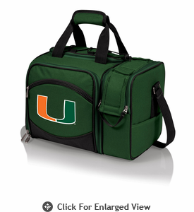 Picnic Time Malibu Digital Print -  Green University of Miami Hurricanes