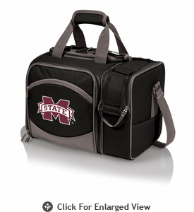 Picnic Time Malibu Embroidered -  Black Mississippi State Bulldogs