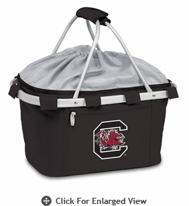 Picnic Time Metro Basket Digital Print - Black University of South Carolina Gamecocks