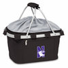 Picnic Time Metro Basket Embroidered- Black Northwestern University Wildcats