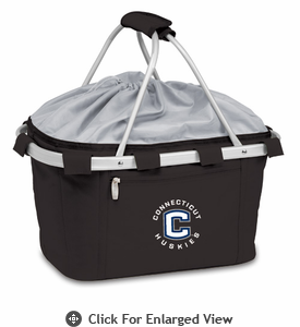 Picnic Time Metro Basket Embroidered- Black University of Connecticut Huskies