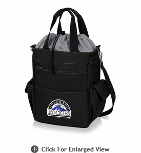 Picnic Time MLB - Activo Cooler Tote  Colorado Rockies Black w/ Grey