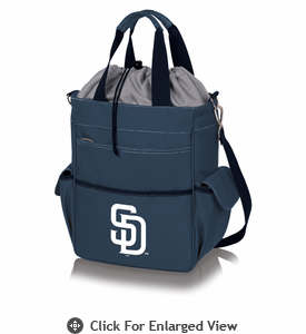 Picnic Time MLB - Activo Cooler Tote  San Diego Padres Navy Blue