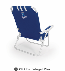 Picnic Time  MLB - Monaco Beach Chair - Navy Blue Kansas City Royals