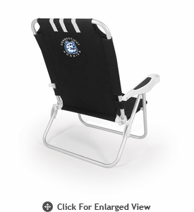 Picnic Time Monaco Beach Chair - Black University of Connecticut Huskies