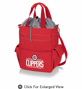 Picnic Time NBA - Activo Cooler Tote  Los Angeles Clippers Red