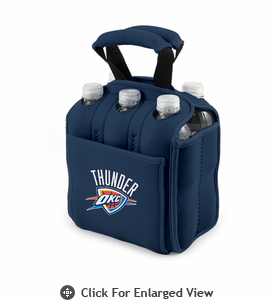 Picnic Time NBA - Navy Blue Six Pack Carrier Oklahoma City Thunder