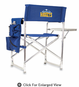 Picnic Time NBA - Navy Blue Sports Chair Denver Nuggets