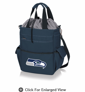 Picnic Time NFL - Activo Cooler Tote Seattle Seahawks Navy Blue
