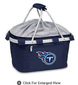 Picnic Time NFL - Navy Blue Metro Basket Tennessee Titans