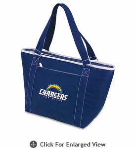 Picnic Time NFL - Navy Blue Topanga Cooler Tote San Diego Chargers