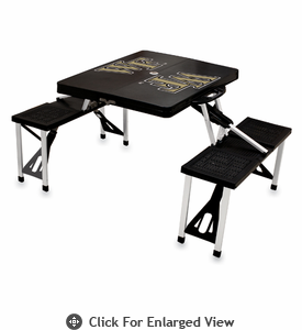 Picnic Time Picnic Table Black Wake Forest Demon Deacons
