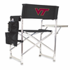 Picnic Time Sports Chair - Black Embroidered Virginia Tech Hokies