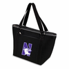 Picnic Time Topanga Embroidered - Black Tote Northwestern University Wildcats