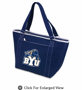 Picnic Time Topanga Embroidered - Navy Tote BYU Cougars