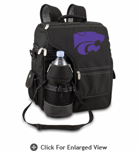 Picnic Time Turismo Black - Embroidered Kansas State Wildcats