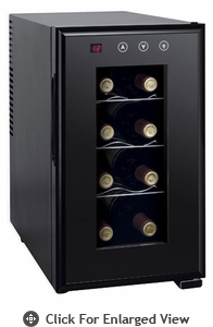 Sunpentown  8-bottle Thermo-Electric Slim Wine Cooler with Heating