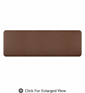 Wellness Mats 6' x 2' Motif - Moire - Brown