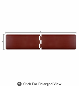 Wellness Mats 9' x 2' PuzzlePiece - R Series (2-Piece Runner Mat Set) - Burgundy