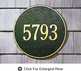Whitehall 15″ Diameter Round Address Plaques