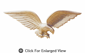 """Whitehall 24"""" Patriotic Wall Eagle Gold Bronze"""