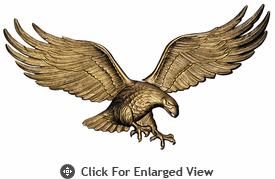 """Whitehall 29"""" Patriotic Wall Eagle Antique Brass"""