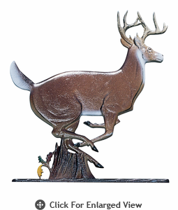 "Whitehall 30"" Buck Weathervane Rooftop Color"