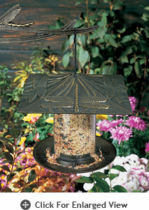 "Whitehall  6"" Dragonfly Tube Bird Feeders"
