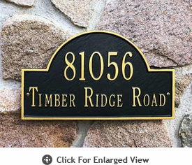 Whitehall Arch Marker Standard Address Plaques