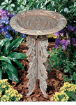 Whitehall   Butterfly Birdbath with Pedestal