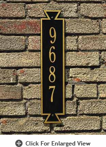 Whitehall Exeter Vertical Standard Wall Plaque One Line