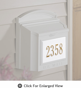 Whitehall  Personalized Wall Mailbox Plaque Only One Line White