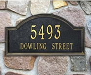 Whitehall  Providence Arch Standard Address Plaques