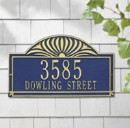 Whitehall Sunburst Estate Wall Plaque Two Lines
