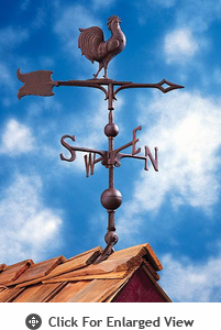 "Whitehall Traditional Directions Collection 30"" Full-Bodied Rooster Weathervanes"