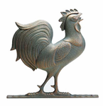 """Whitehall  Traditional Directions Collection  30"""" Full-Bodied  Rooster Weathervanes"""