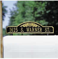 Whitehall Two Sided Standard Scroll Mailbox Address Marker One Line