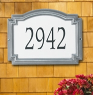 Whitehall Williamsburg Reflective Standard Wall Plaque One Line