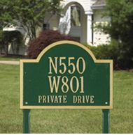 Whitehall Wisconsin Special Lawn Plaque Three Lines
