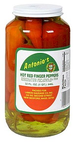 Antonio's Red Hot Finger Peppers 32 oz.