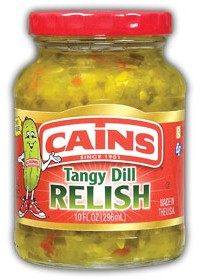 Cains Tangy Dill Relish 10 oz.