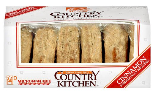 Country Kitchen Cinnamon Sugared Donuts 2 Bo