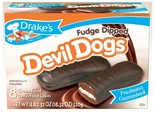 Drake's Fudge Dipped Devil Dogs Cakes (2 Boxes)