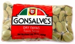Gonsalves Dry Favas 16 oz. (Dried Fava Beans)