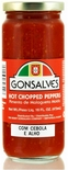 Gonsalves Hot Chopped Peppers with Garlic & Onion 16 oz.