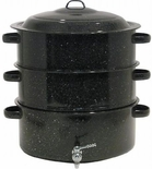 Granite Ware 12 Quart 3 Tier Shore Dinner Pot with Faucet (6328-1)